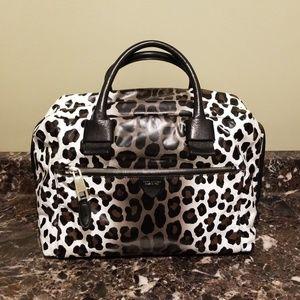 Leopard print satchel